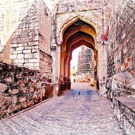 Sue Jacobi - Archways Ornate Palace Mehrangarh Fort India Rajasthan 1a