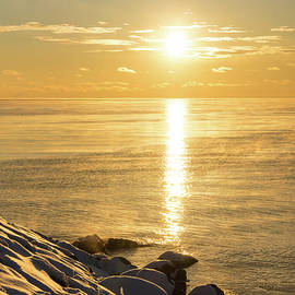 Georgia Mizuleva - Arctic Golds - a Sparkling Subzero Sunrise on Lake Ontario
