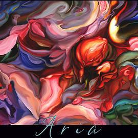 Brooks Garten Hauschild - Aria - original painting with border-title