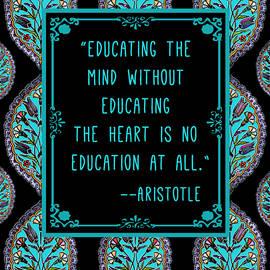 Scarebaby Design - Aristotle Quote on Education