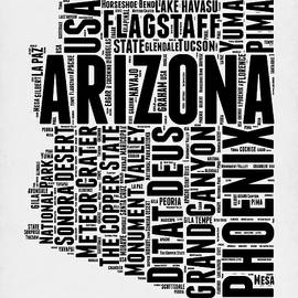 Arizona Word Cloud Map 2 - Naxart Studio