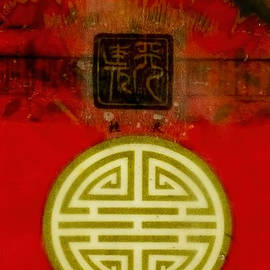 Bellesouth Studio - Asian Red Encaustic