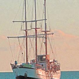 Ian  MacDonald - At Anchor At Sunset
