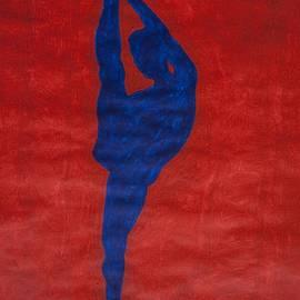 Stormm Bradshaw - Standing Splits Ebony Nude Silhouette