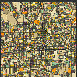 ATLANTA CITY MAP - Jazzberry Blue