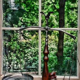 Attorney - Scales of Justice in the Window