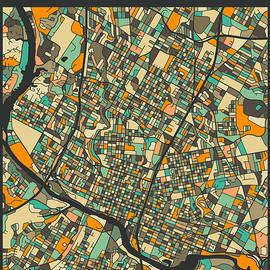 AUSTIN CITY MAP - Jazzberry Blue