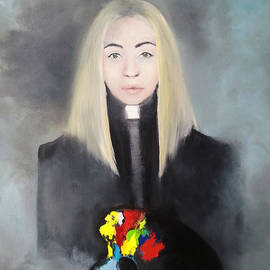 Maja Sokolowska - Autoportrait with a palette