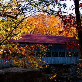 Jeff Folger - autumn arrives at the Albany covered bridge