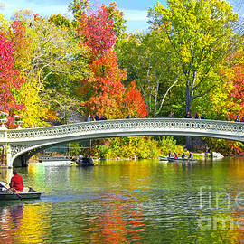 Regina Geoghan - Autumn at Bow Bridge Central Park