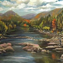 Nancy Griswold - Autumn at the Pemi from Thornton New Hampshire