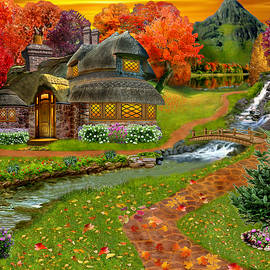Glenn Holbrook - Autumn Country Cottage