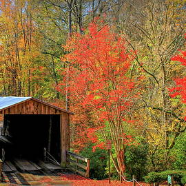 Reid Callaway - Autumn Elder Mill Covered Bridge