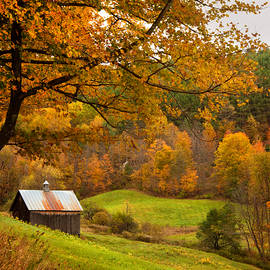 Joann Vitali - Autumn in New England - Sugarhouse and Barns in Fall