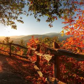 Carol R Montoya - Autumn Landscape from Cataloochee in the Great Smoky Mountains National Park