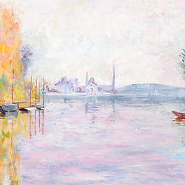Marilyn Nolan-Johnson - Autumn on the Seine at Argenteuil after Claude Monet by Marilyn Nolan-Johnson