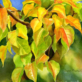 Autumn Plum Leaves - Sharon Freeman