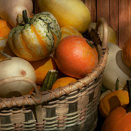 Mike Savad - Autumn - Pumpkins in a basket