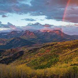 James Udall - Autumn Rainbow over Mount TImpanogos