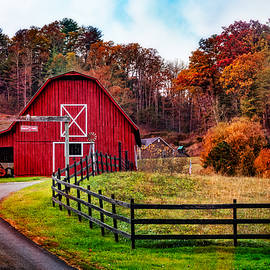 Debra and Dave Vanderlaan - Autumn Red Barn