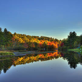 Joann Vitali - Autumn River Reflections - New Hampshire
