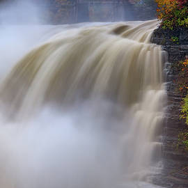 Autumn Storm At The Upper Falls - Rick Berk