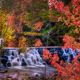 Joann Vitali - Autumn Waterfall - New England Fall Foliage