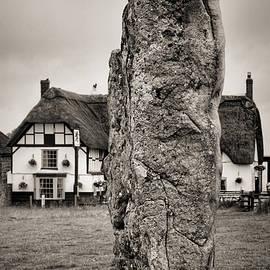 Avebury Stone and Red Lion Pub