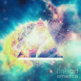 Philipp Rietz - Awsome collosal deep space triangle art sign