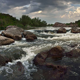 Stanislav Salamanov - Babbling falls on river