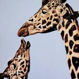 Lillian Bell - Baby Giraffe and Mom