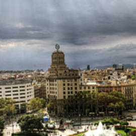 Isaac Silman - Barcelona Catalonia square Spain panoramic view