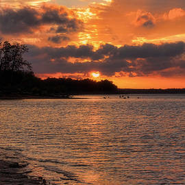 Carolyn Fletcher - Backyard Sunset Viewing