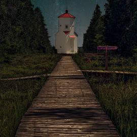 Nikki Vig - Baileys Harbor Lighthouse is Smiling Under the Milky Way