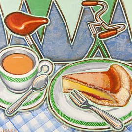 Mark Howard Jones - Bakewell Pudding and cup of tea at Eroica Britannia