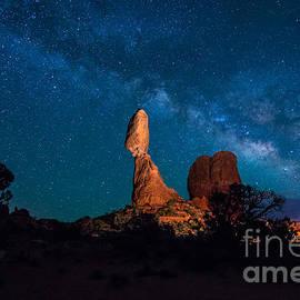 Gary Whitton - Balanced Rock and Milky Way at Night