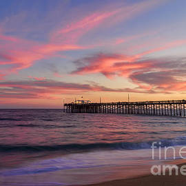 Eddie Yerkish - Balboa Pier At Sunset