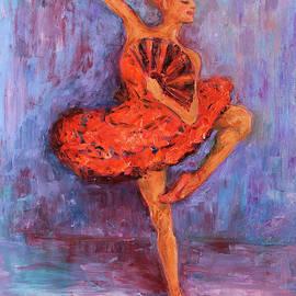 Xueling Zou - Ballerina Dancing with a Fan