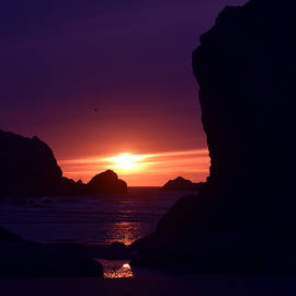 Michele  Avanti - Bandon Beach Sunset
