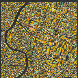 BANGKOK CITY MAP - Jazzberry Blue