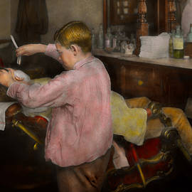 Barber - Shaving - Faith in a child - 1917