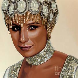 Paul Meijering - Barbra Streisand Painting