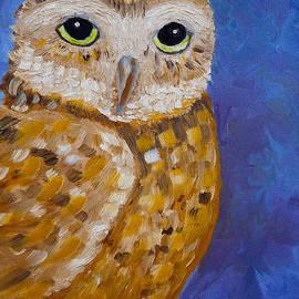 Kathy  Symonds - Barn Owl- Impressionism- Owl by Night
