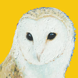 Jan Matson - Barn owl on yellow background for the nursery