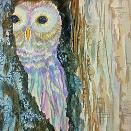 Ellen Levinson - Barred Owl Inside a Tree