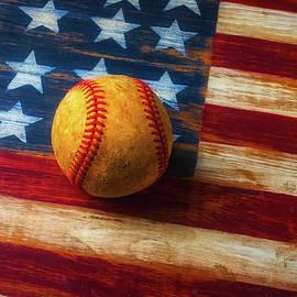 Baseball And Folk Art Flag - Garry Gay