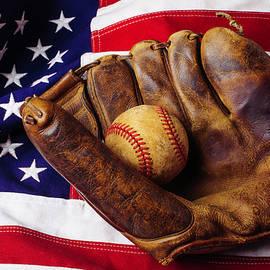 Baseball Mitt And American Flag - Garry Gay