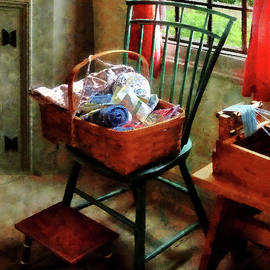 Susan Savad - Basket of Cloth and Yarn on Chair