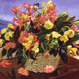 David Lloyd Glover - Basket Of Flowers