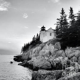 Elizabeth Dow - Bass Harbor Lighthouse in Black and White
